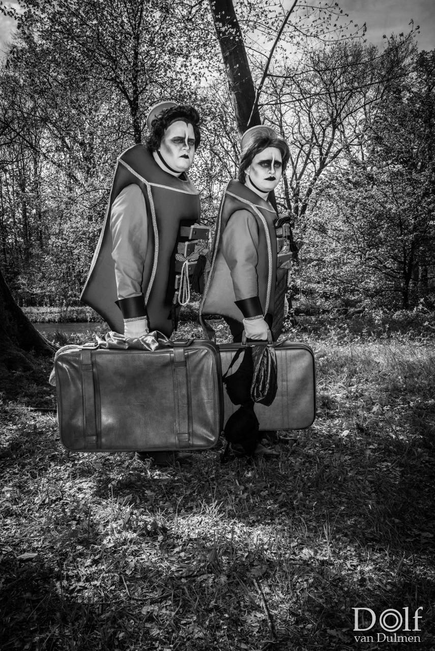 * ELFIA 2017 * Jaarlijkse Fantasy Fair bij kasteel Haarzuilens. Zwart/wit weergave om de creaties nog mooier uit te laten komen!