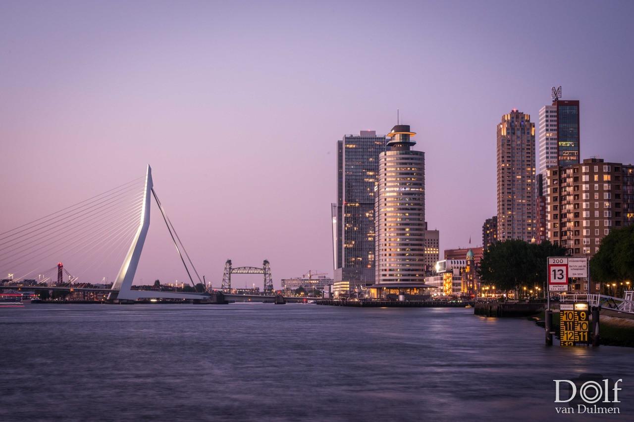 * ENJOY ROTTERDAM! * Heerlijke avondexcursie langs de Maasboulevard in Rotterdam. Tnx Kirsten